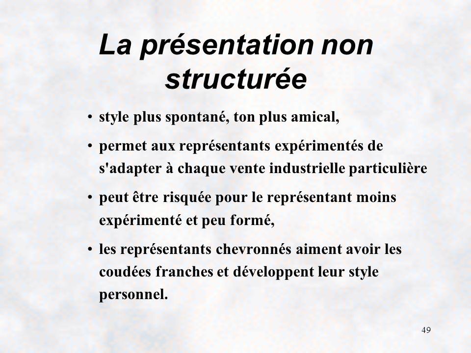 La présentation non structurée