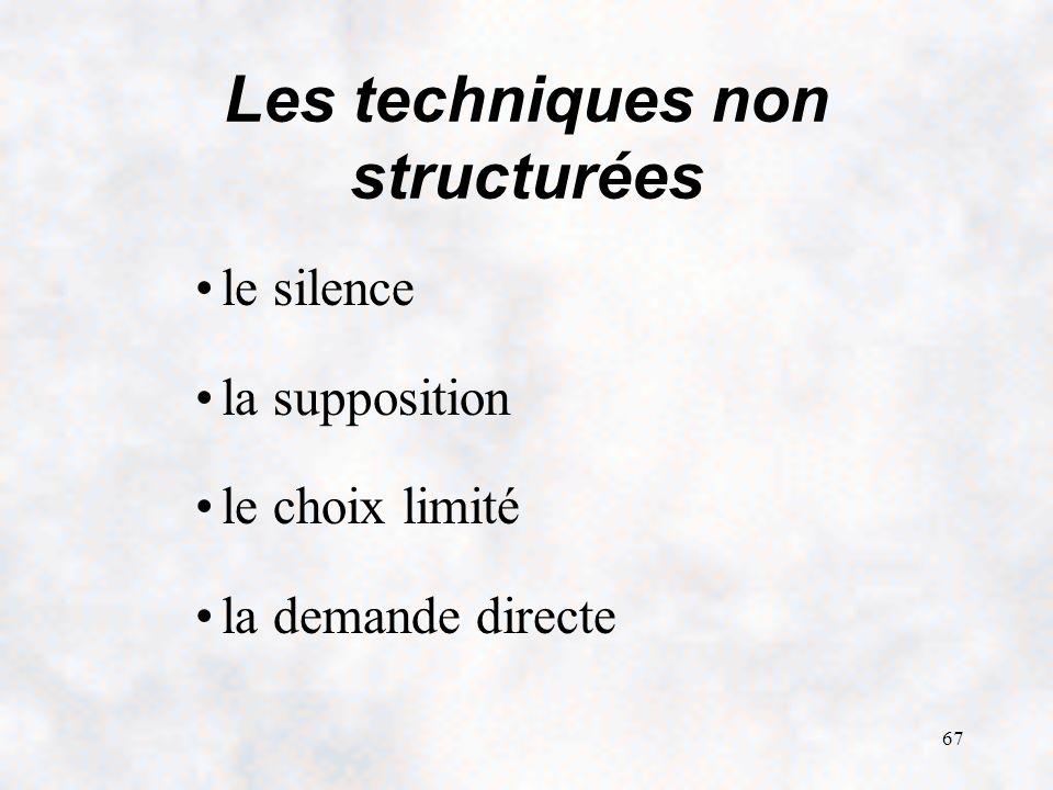 Les techniques non structurées