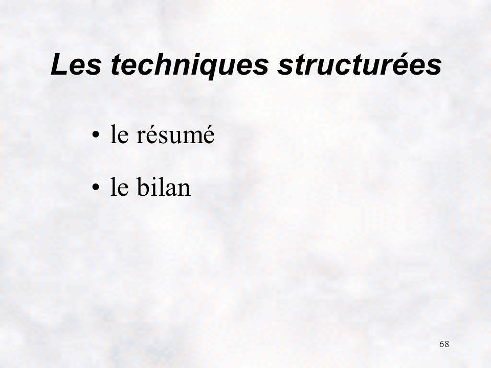 Les techniques structurées