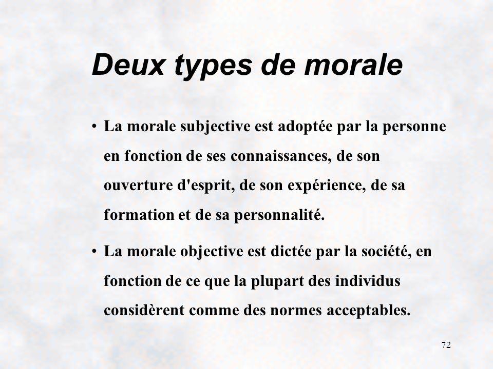 Deux types de morale