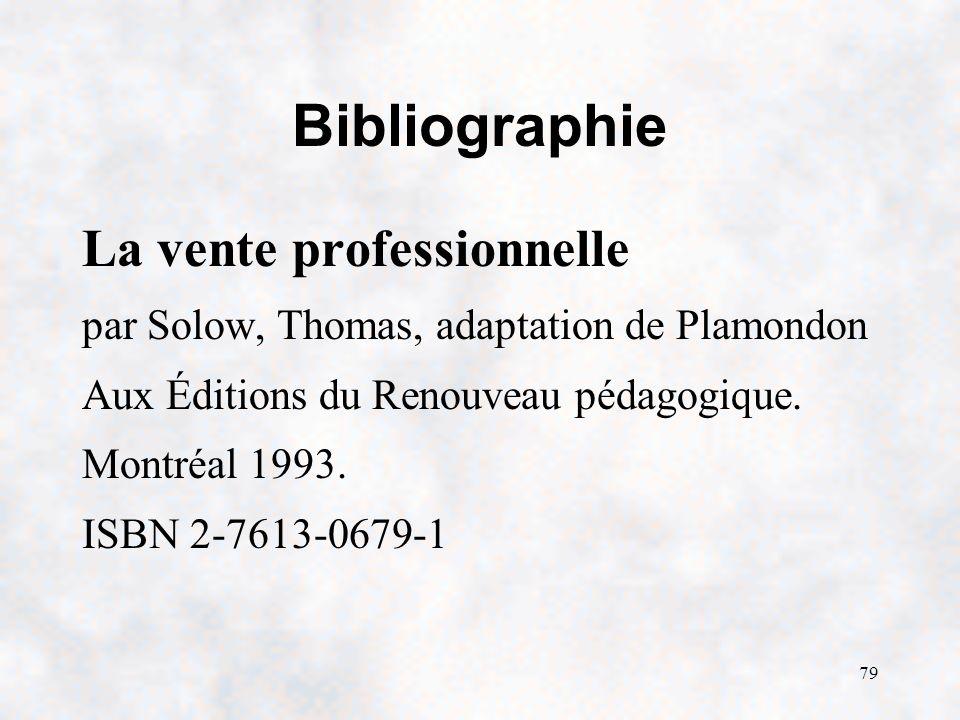 Bibliographie La vente professionnelle