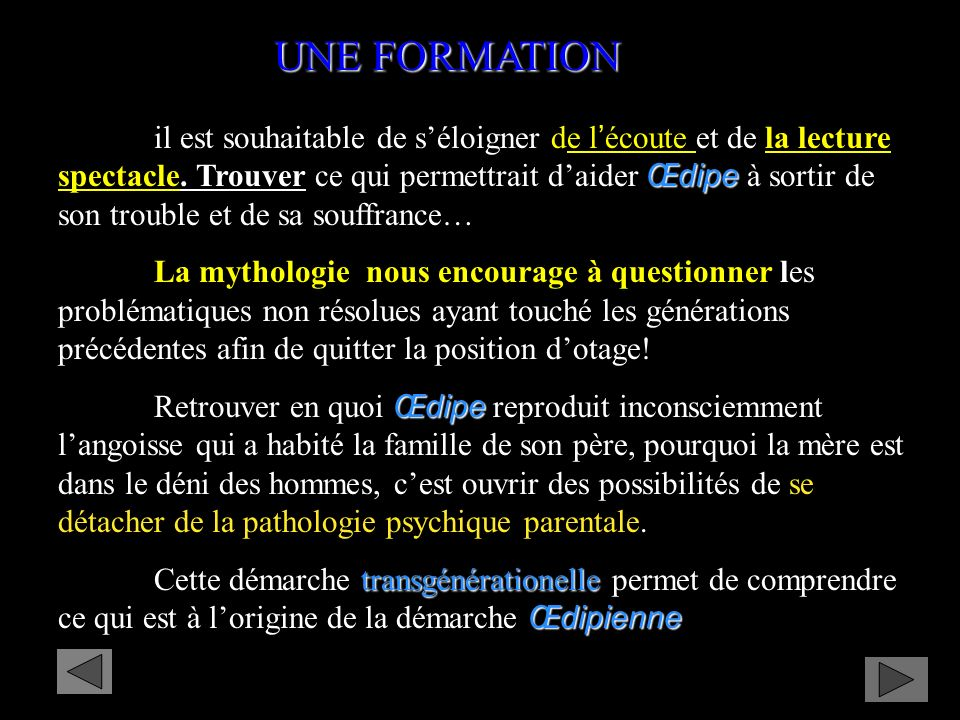 UNE FORMATION