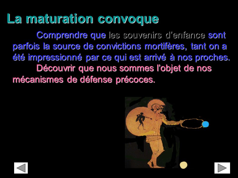La maturation convoque