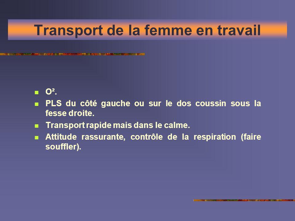 Transport de la femme en travail