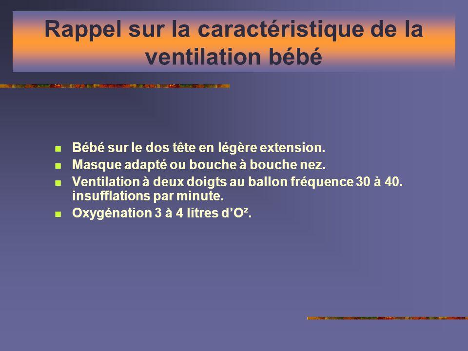 Rappel sur la caractéristique de la ventilation bébé