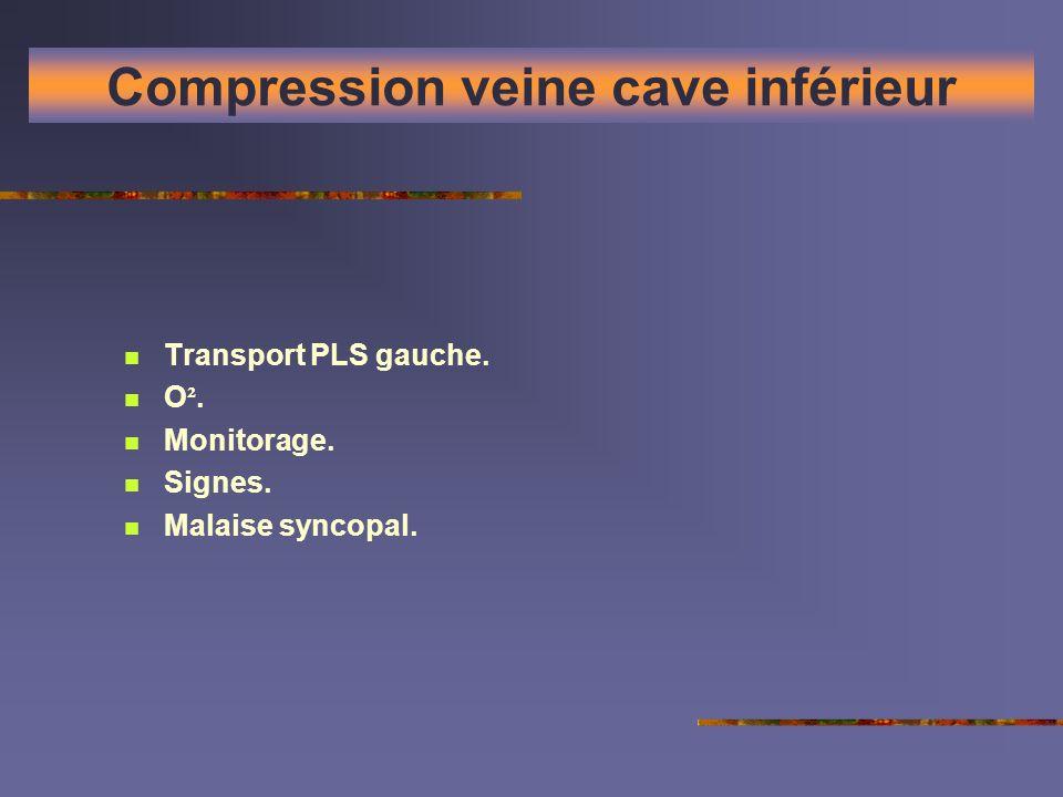 Compression veine cave inférieur