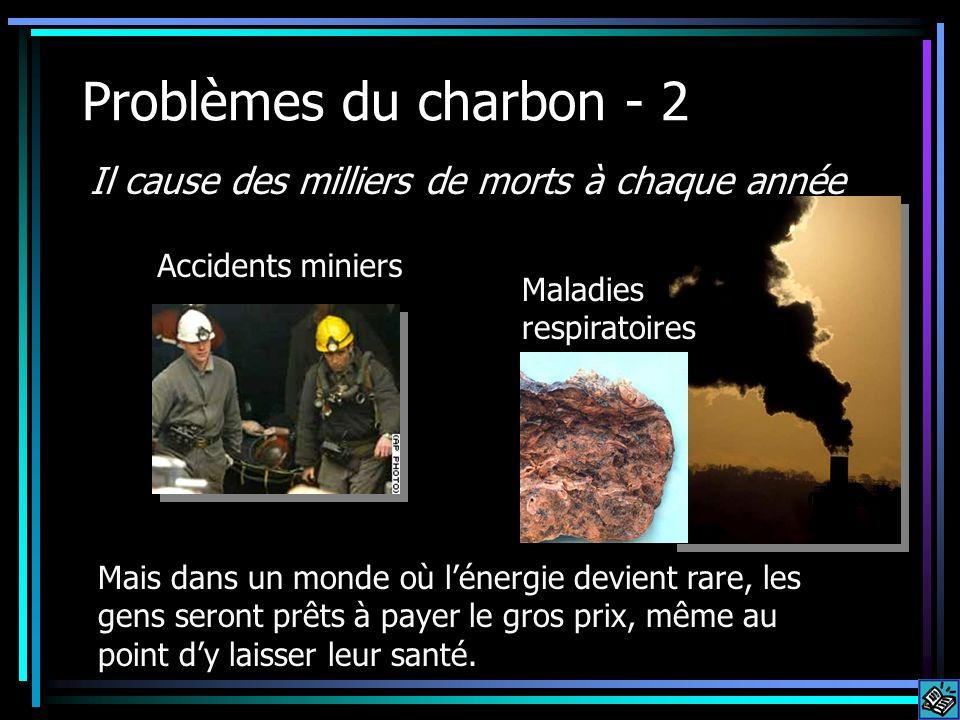 Problèmes du charbon - 2 Il cause des milliers de morts à chaque année