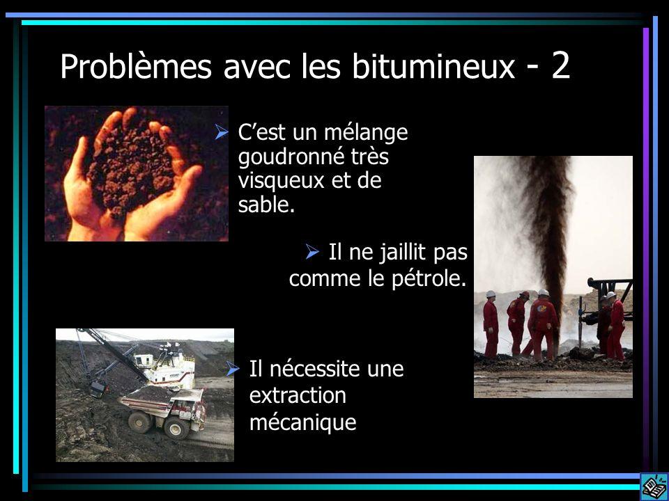 Problèmes avec les bitumineux - 2