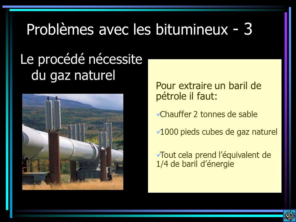 Problèmes avec les bitumineux - 3