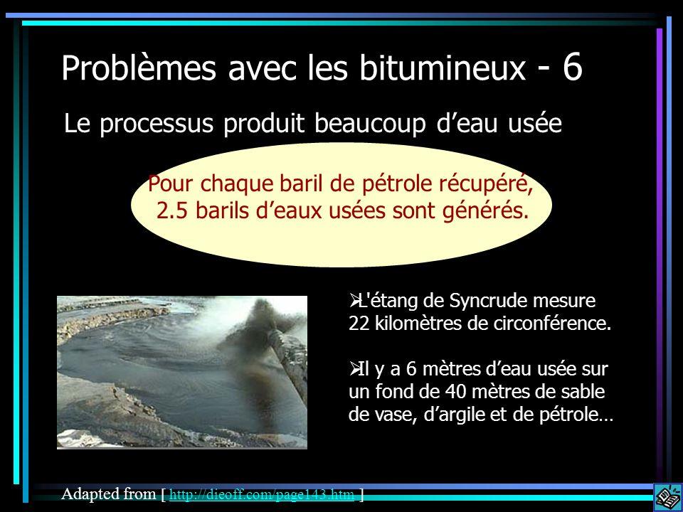 Problèmes avec les bitumineux - 6