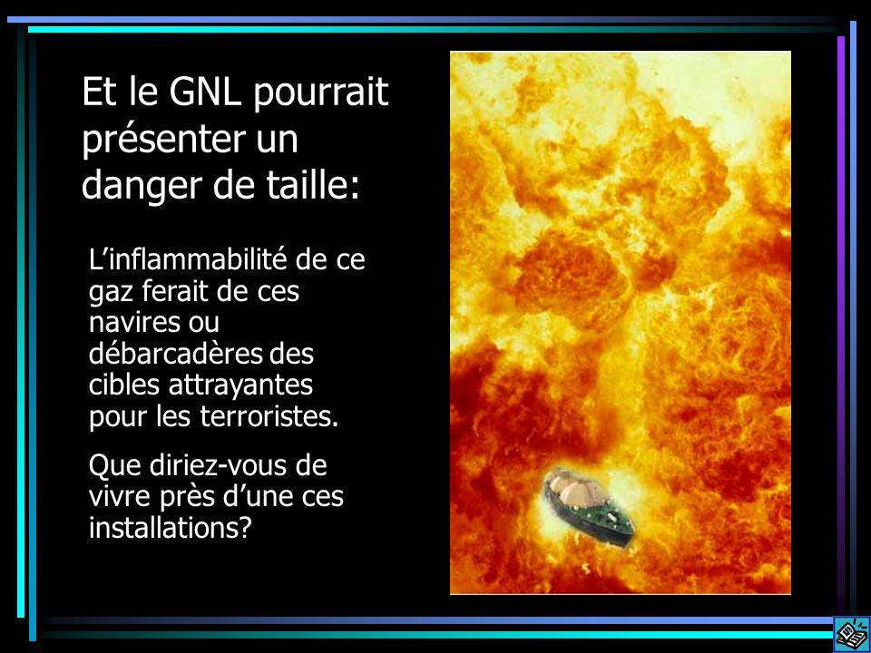 Et le GNL pourrait présenter un danger de taille: