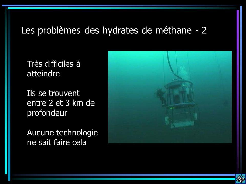 Les problèmes des hydrates de méthane - 2