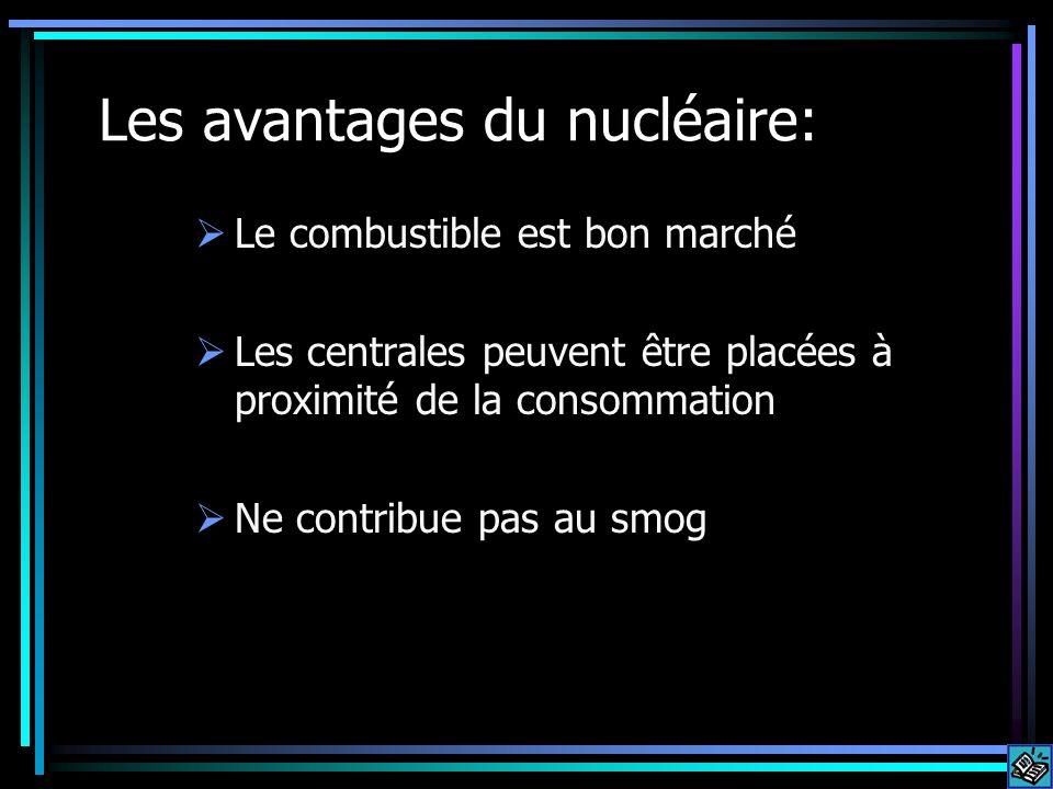 Les avantages du nucléaire: