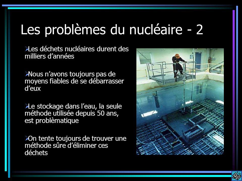 Les problèmes du nucléaire - 2