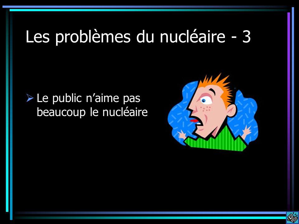 Les problèmes du nucléaire - 3