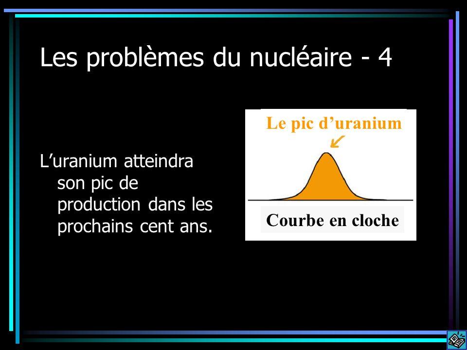 Les problèmes du nucléaire - 4