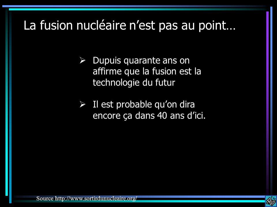La fusion nucléaire n'est pas au point…