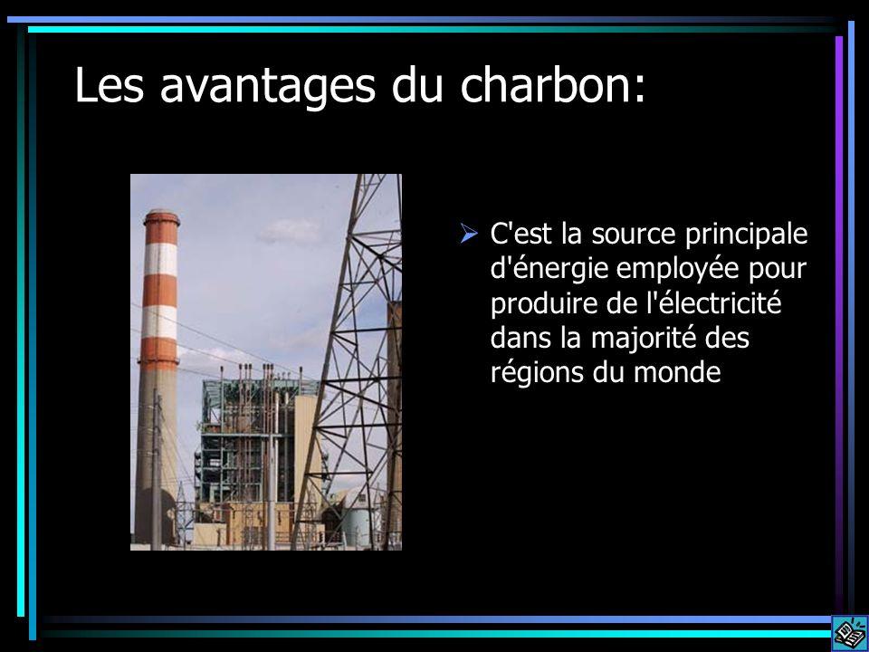 Les avantages du charbon: