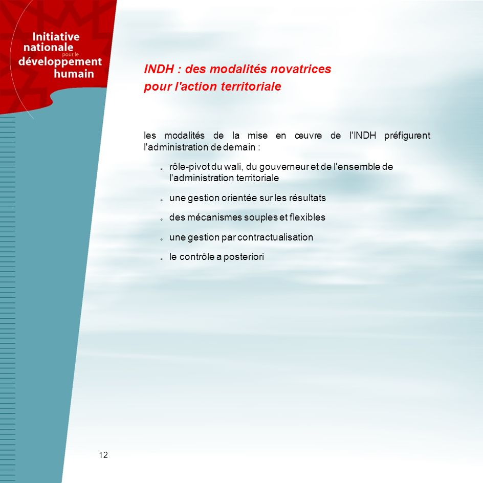 INDH : des modalités novatrices pour l action territoriale