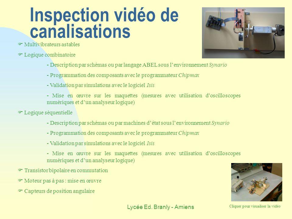 Inspection vidéo de canalisations
