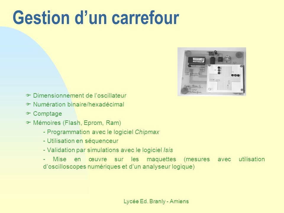 Gestion d'un carrefour
