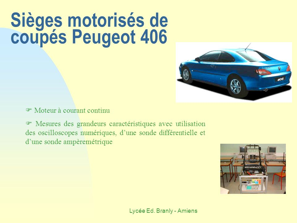 Sièges motorisés de coupés Peugeot 406