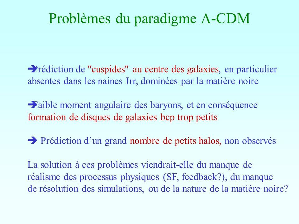 Problèmes du paradigme L-CDM