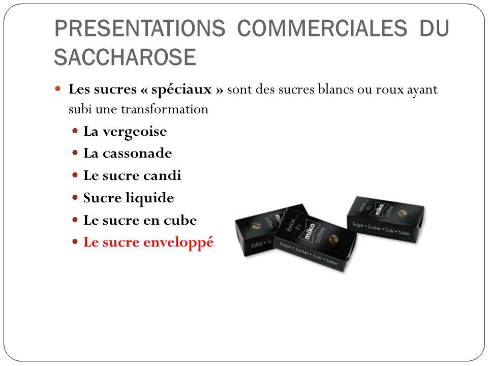 PRESENTATIONS COMMERCIALES DU SACCHAROSE