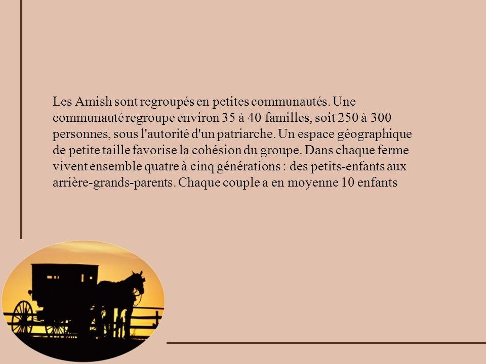 Les Amish sont regroupés en petites communautés