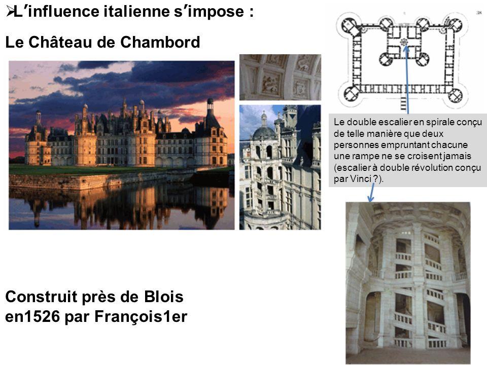 L'influence italienne s'impose : Le Château de Chambord