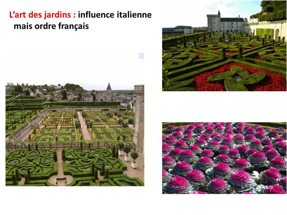L'art des jardins : influence italienne mais ordre français