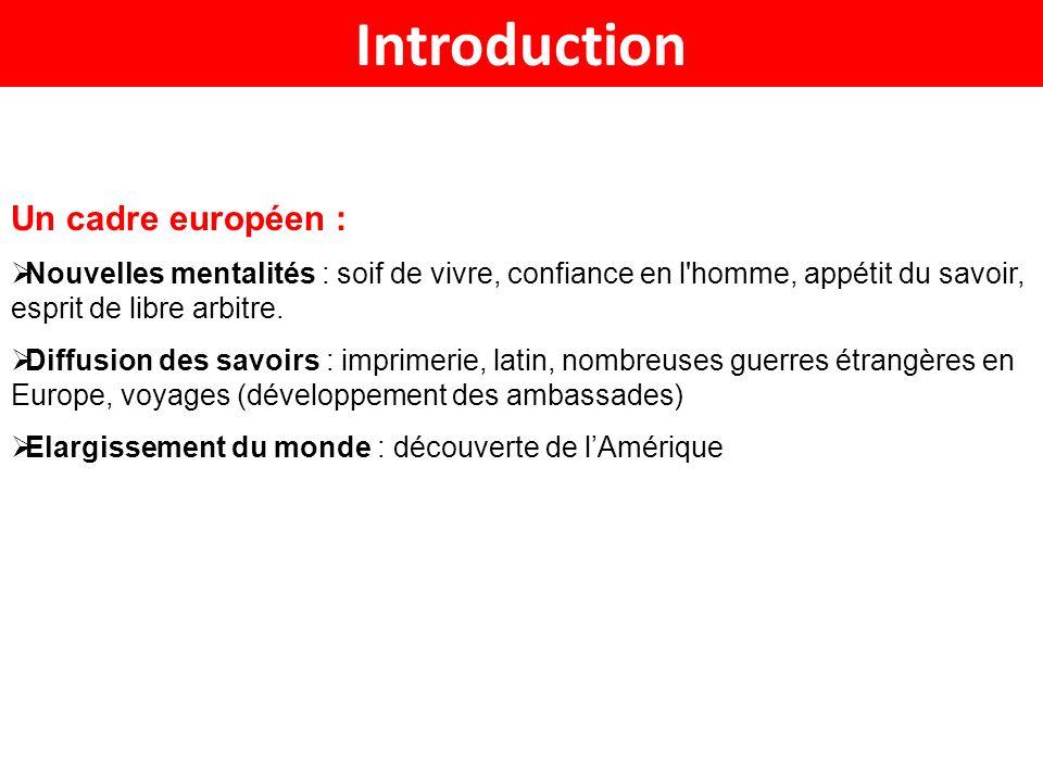 Introduction Un cadre européen :