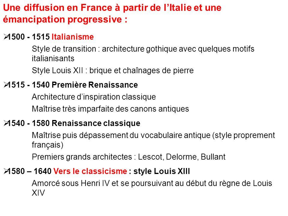 Une diffusion en France à partir de l'Italie et une émancipation progressive :