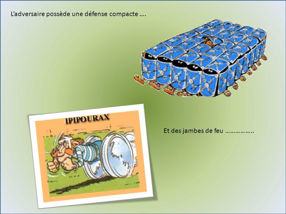 L'adversaire possède une défense compacte ….