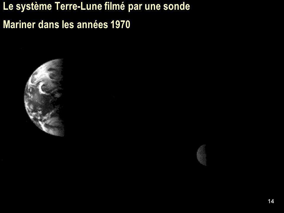 Le système Terre-Lune filmé par une sonde Mariner dans les années 1970