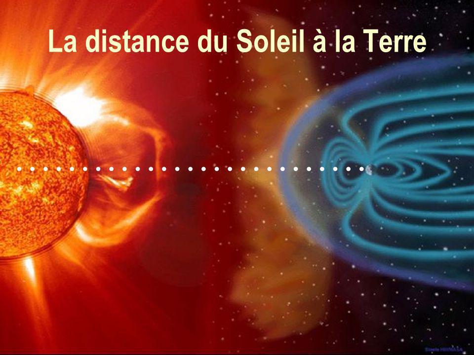 La distance du Soleil à la Terre