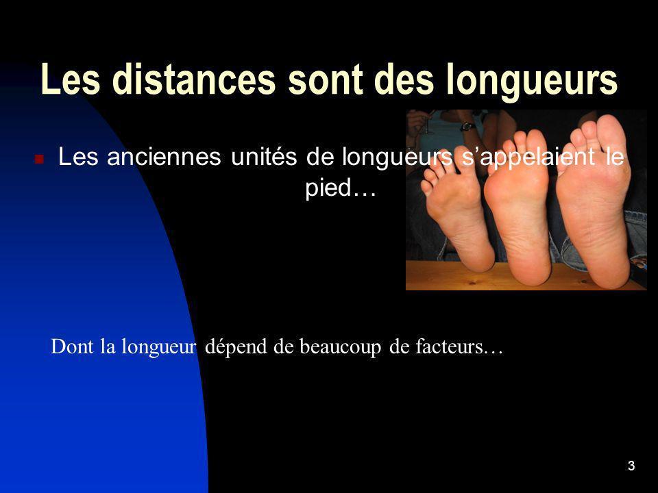 Les distances sont des longueurs