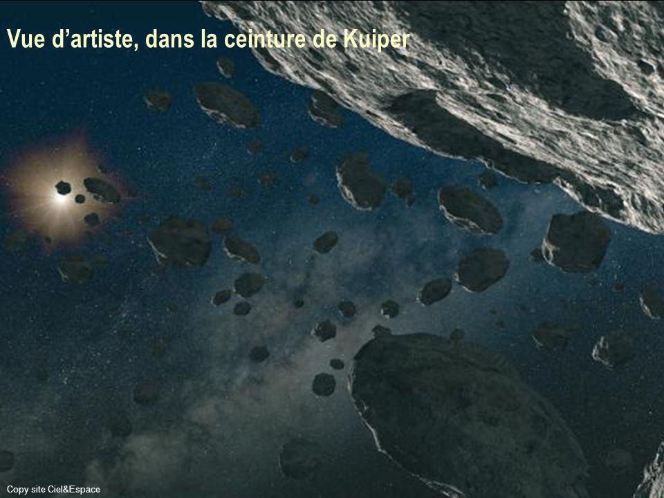 Vue d'artiste, dans la ceinture de Kuiper