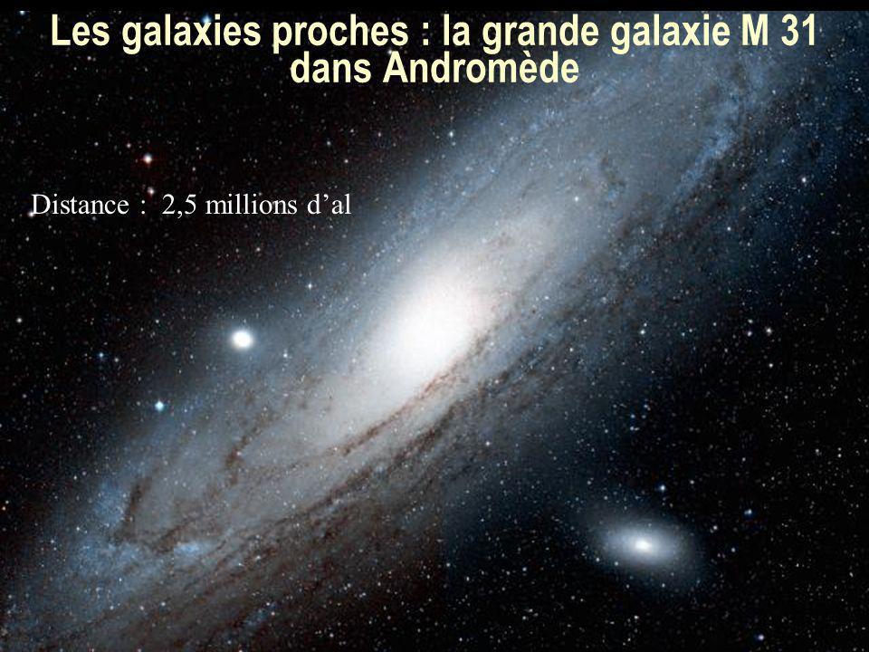 Les galaxies proches : la grande galaxie M 31 dans Andromède