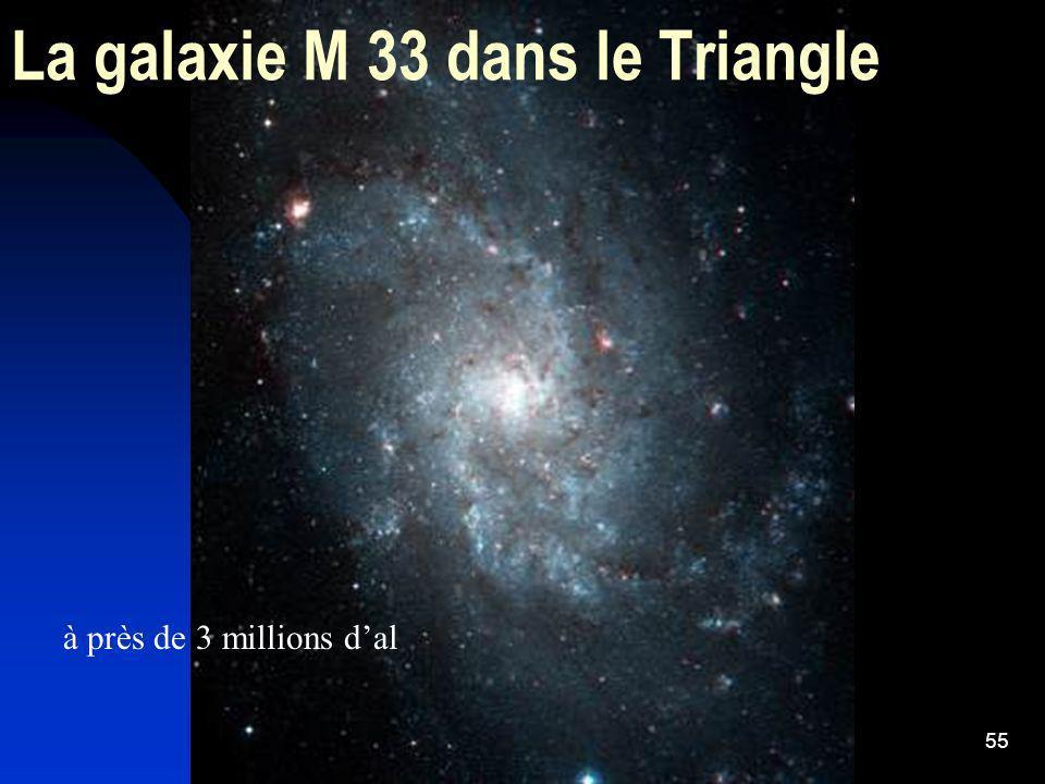 La galaxie M 33 dans le Triangle