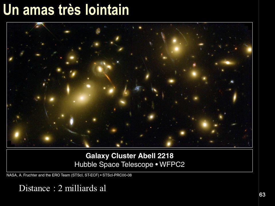 Un amas très lointain Distance : 2 milliards al