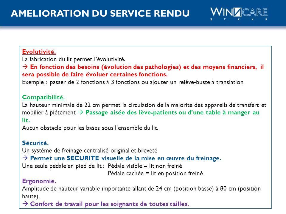 AMELIORATION DU SERVICE RENDU