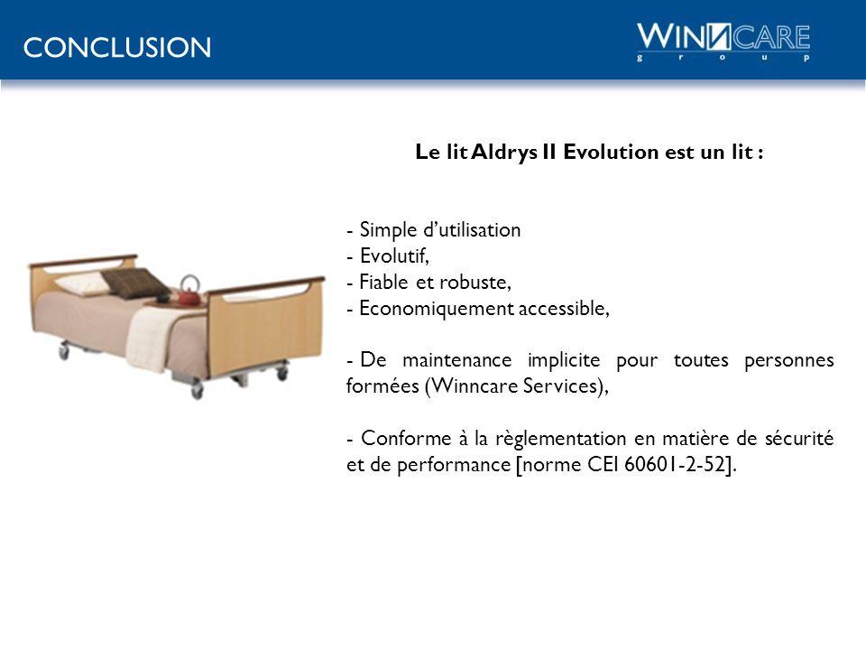 Le lit Aldrys II Evolution est un lit :