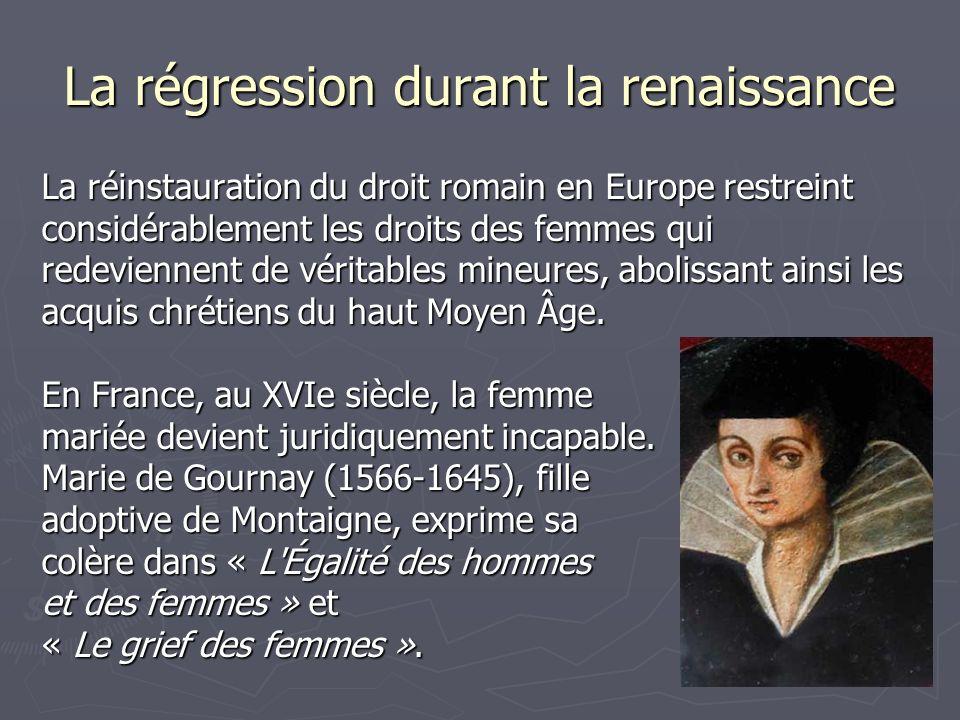 La régression durant la renaissance