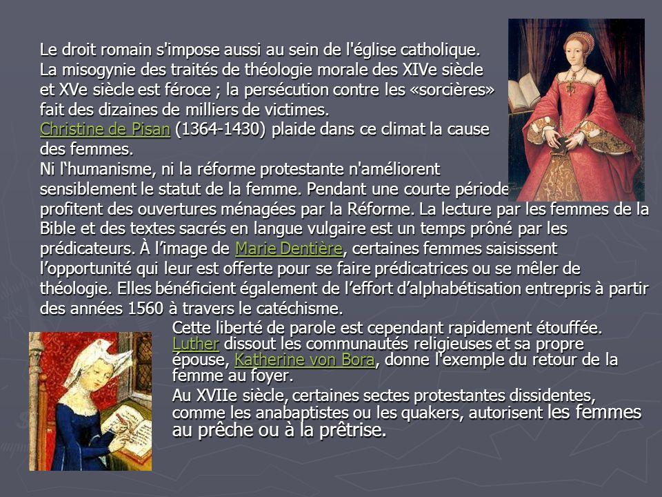 Le droit romain s impose aussi au sein de l église catholique.