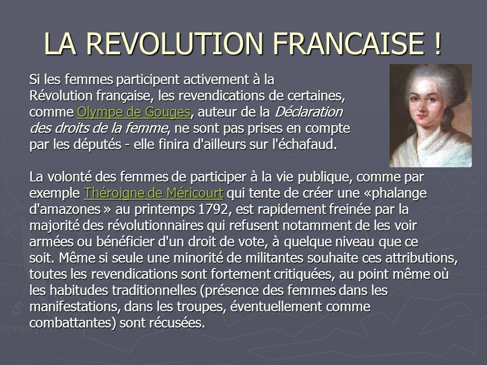 LA REVOLUTION FRANCAISE !