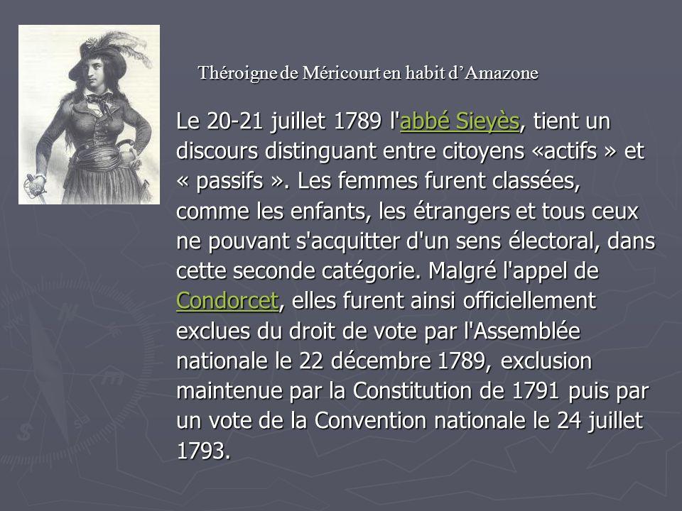 Le 20-21 juillet 1789 l abbé Sieyès, tient un