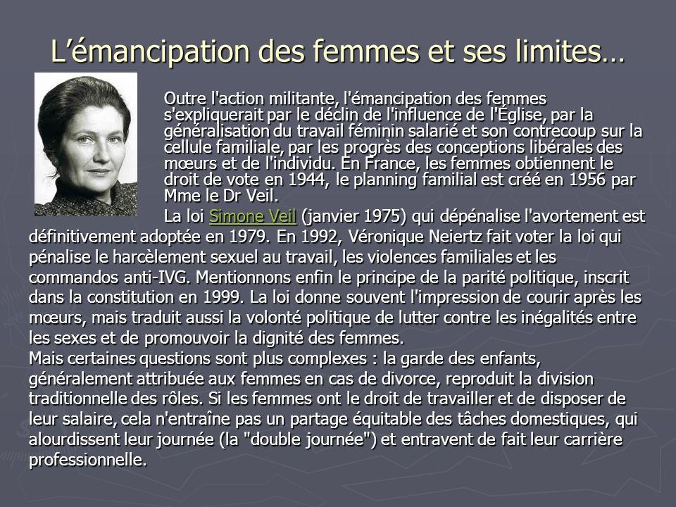 L'émancipation des femmes et ses limites…