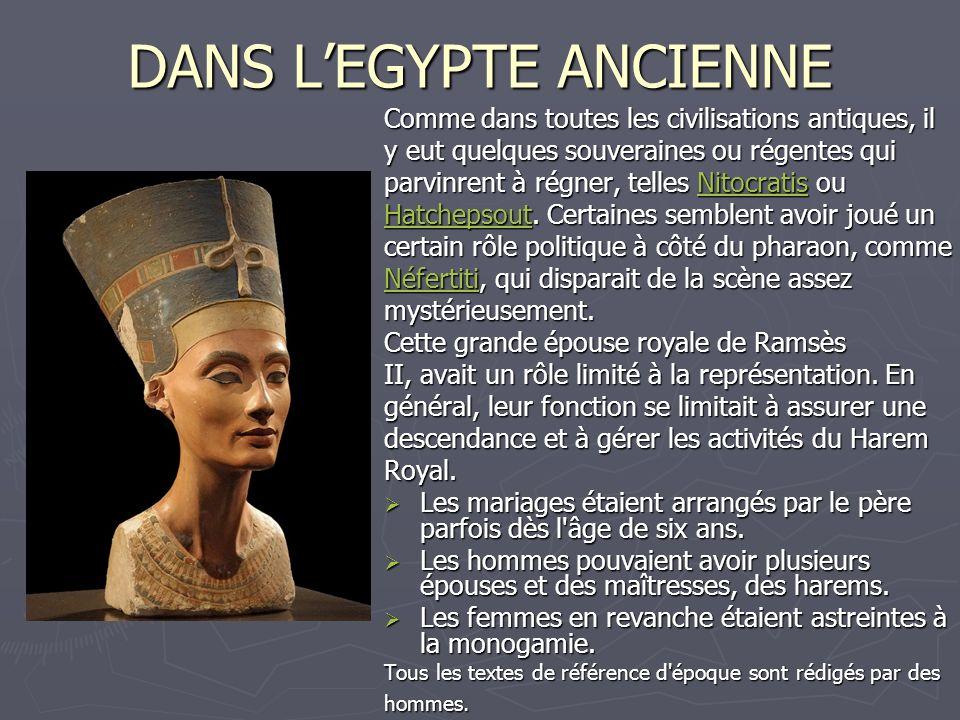 DANS L'EGYPTE ANCIENNE