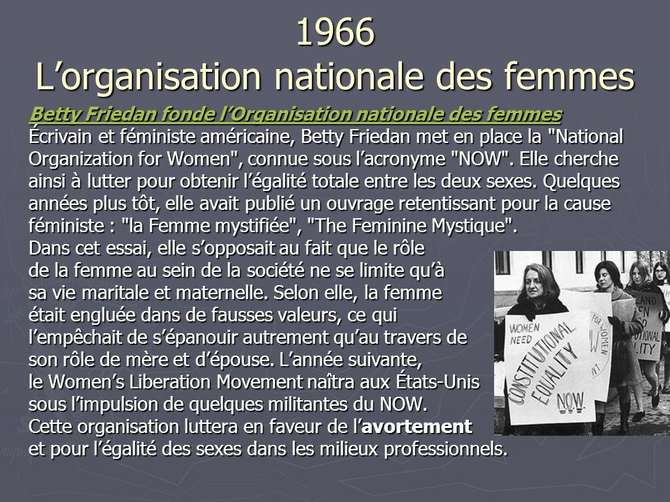 1966 L'organisation nationale des femmes